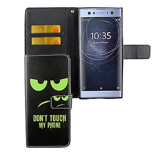 Mobile case bag for mobile phone Sony Xperia XA2 dont touch my phone Green