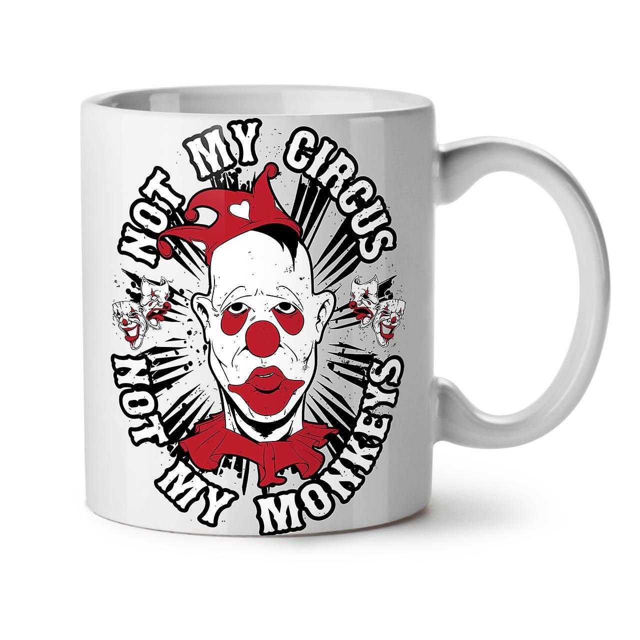 De Clown Thé Nouveau Tasse Singe 11 OzWellcoda Drôle Blanc Cirque Café Céramique dshCtrQ