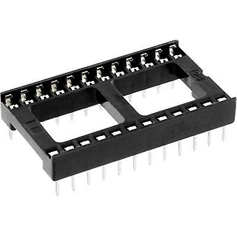 IC socket Contact spacing: 15.24 mm Number of pins: 24 econ connect