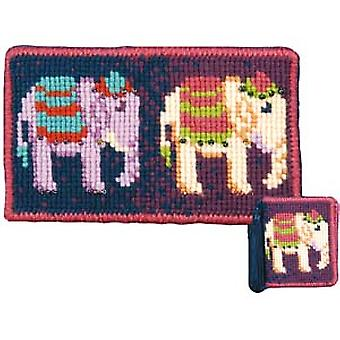 Elephants Needlepoint Kit