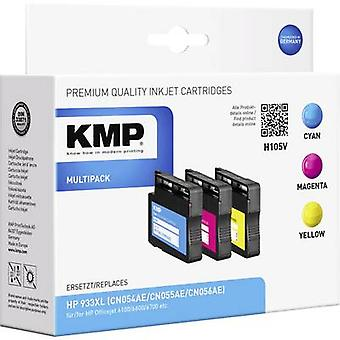 KMP Ink replaced HP 933XL Compatible Set Cyan, Mag