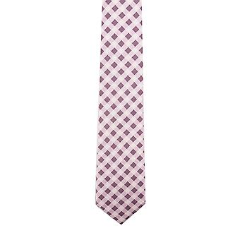 Knightsbridge Purple Gingham Silk Tie