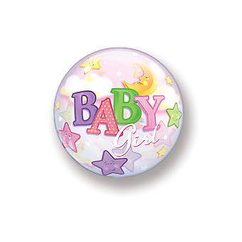 Balloon bubble ball baby girl birth pink pastel girls Moon Star approximately 55cm balloon