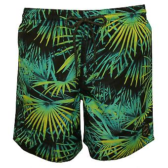 O'Neill Bondi Palms Print Swim Shorts, Black/green/blue