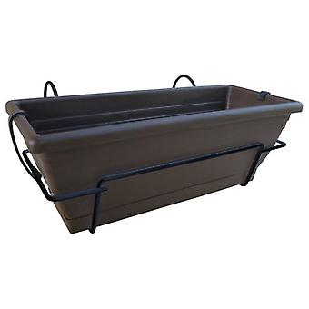 Nortene Planter Balcony Floria with metallic support 47,5x19,5x18 cm