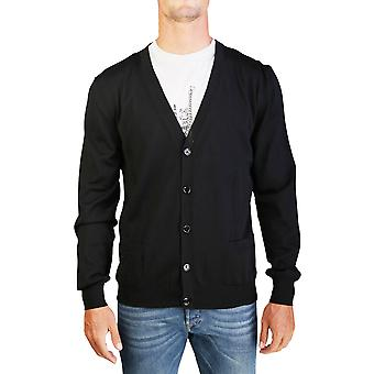 Dior Homme mäns jungfru ull knäppte Cardigan tröja svart