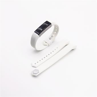 For Fitbit Alta HR plastic / silicone bracelet for men / size L White Watch