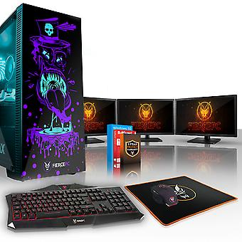 Fierce GOBBLER Gaming PC, Fast Intel Core i7 8700K 4.5GHz, 2TB HDD, 16GB RAM, GTX 1060 6GB