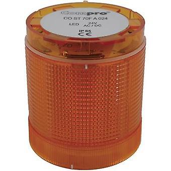 Signalet tårnet komponent LED ComPro CO ST 70 gule Non-stop lyssignal, Flash, Emergency lys 24 Vdc, 24 V AC 75 dB