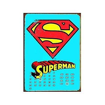 Calendario de pared Metal eterno de Logo de Superman