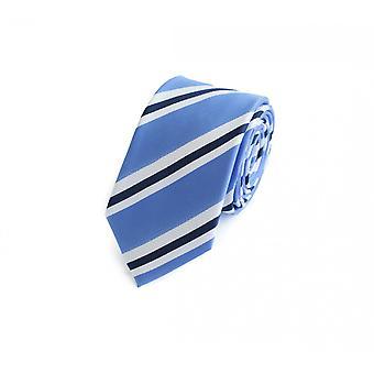 Krawat krawat krawat krawat 6cm biały niebieski pasiasty Fabio Farini