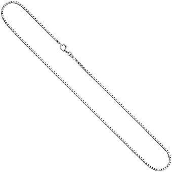 Ожерелье серебро реальные драгоценности Венецианской РОССИ цепь 42 см