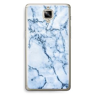 OnePlus 3T Transparent Case (Soft) - Blue marble