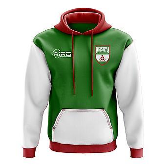 Inguschetien Konzept Land Fußball Hoody (grün)