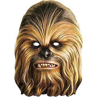 Chewbacca Star Wars máscara de papelão