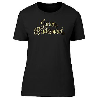 Junior Bridesmaid Gold Lettering Tee Women's -Image by Shutterstock