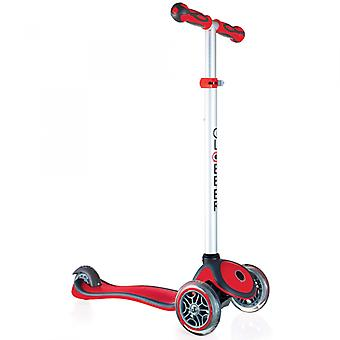Globber Mini Micro Scooter - Primo Plus Mini Scooter - 3 Wheel Scooter - Red