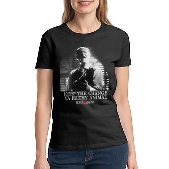Home Alone Keep The Change Filthy Animal Women's Black T-shirt