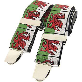 David Van Hagen walisischen Drachen Braces - weiß/grün/rot