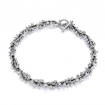 Cavendish francesa pesada plata oxidado primoroso collar