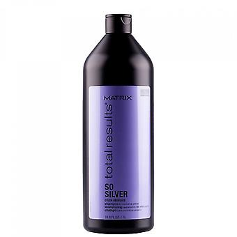 Totale risultati a colori a matrice ossessionato così argento Shampoo 1000 ml