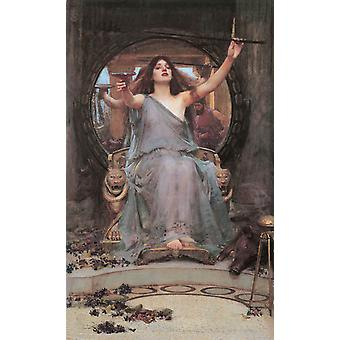 Circe Offering the Cup to,John William Waterhouse,60x40cm