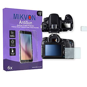 Canon EOS 70D Screen Protector - Mikvon AntiSun (Retail Package with accessories)