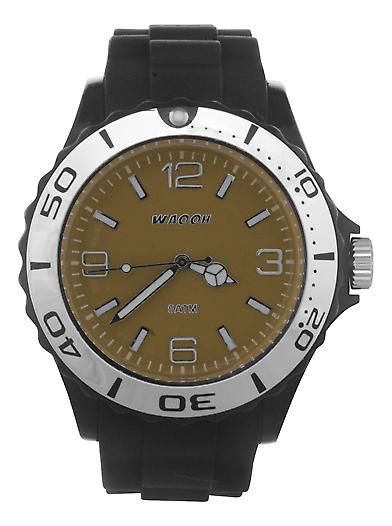 Waooh - MC42 Black Silver Dial Watch