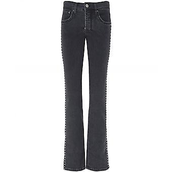 Victoria Victoria Beckham Slim Kick Flare gioiello Trim Jeans