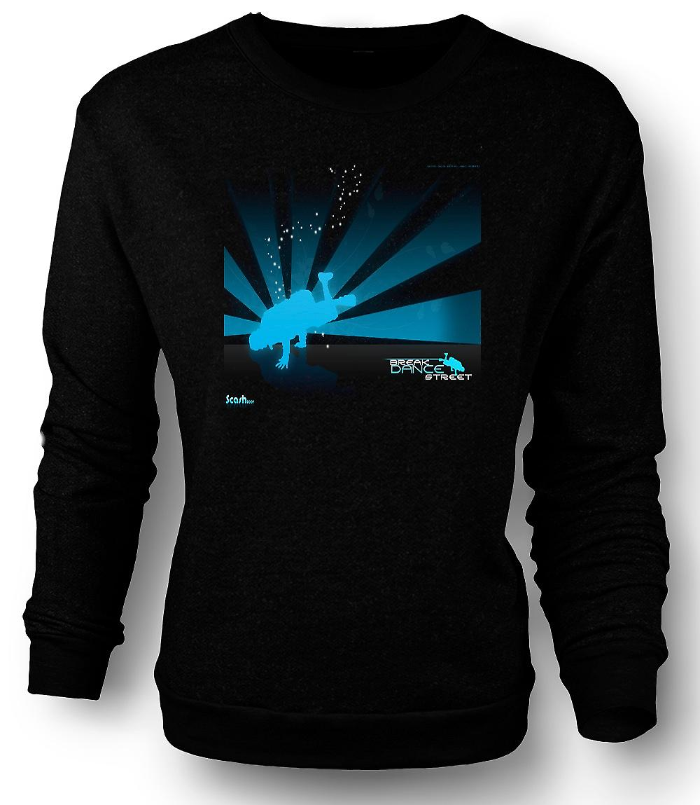 Mens Sweatshirt Break Dance Street