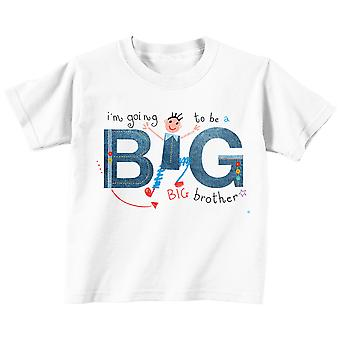 I'm Going to Be a Big Brother Tshirt Professionally Illustrated