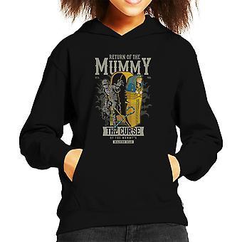 Return Of The Mummy Sarcophagus Kid's Hooded Sweatshirt