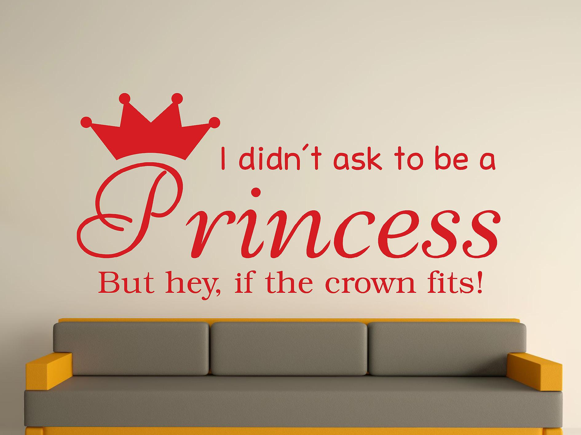 Essere una principessa v2 Wall Art Sticker - Cherry Red