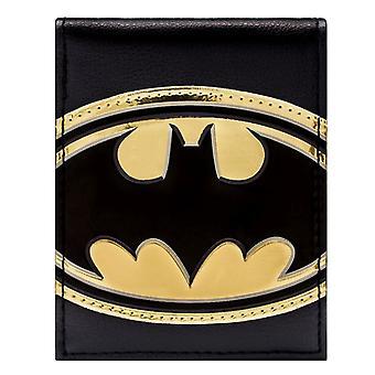 DC Comics Batman Shiny Gold Symbol ID & Card Bi-Fold Wallet