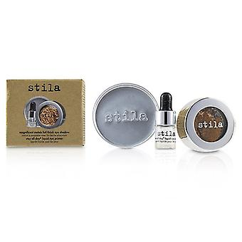 Stila Magnificent Metals Foil Finish Eye Shadow With Mini Stay All Day Liquid Eye Primer - Comex Copper 2pcs