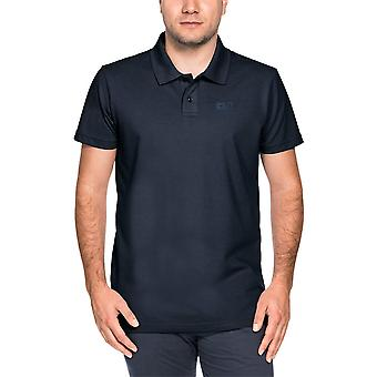 Jack Wolfskin Mens Pique fuktspridande ventilerande Polycotton Polo Shirt