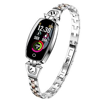 H8 Activity bracelet with crystals-Silver