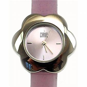 Carvel fiore lilla quadrante ragazze Fashion Watch B511.15CA