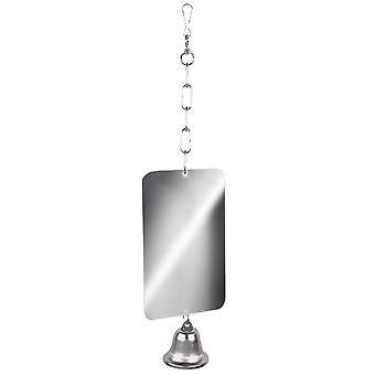 Rosewood Parrot Toy Mirror & Bell