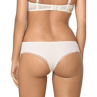 Nipplex Women's Simone Milk Off-White Embroidered Knickers Panty Full Brazilian Brief