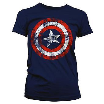 Dame Captain America Nødsed logo T-shirt