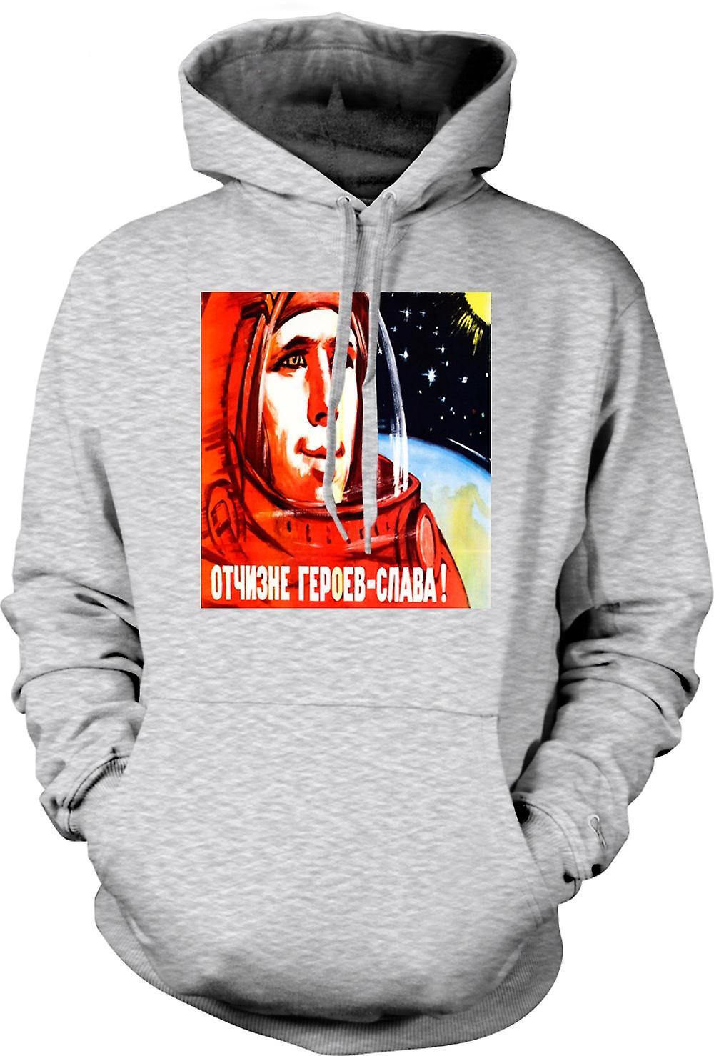 Mens Hoodie - Yuri Gagarin - Russian Cosmonaut