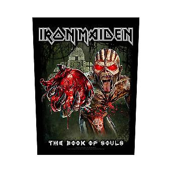 Iron Maiden Backpatch Book of Souls Band Logo Eddie Heart Official 36cm x 29cm
