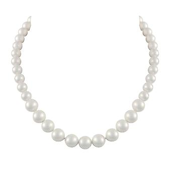 Eternal Collection Windsor Single Strand Graduated White Shell Pearl Necklace