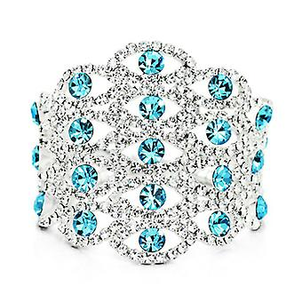 18K Gold Plated Auden Crystals Crown Cuff Bracelet, 20cm