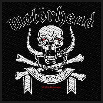 Motorhead March or Die iron-on / sew-on patch 95mm x 95mm (ro)