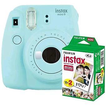 Fujifilm instax mini 9 kit 20 ice blue prints