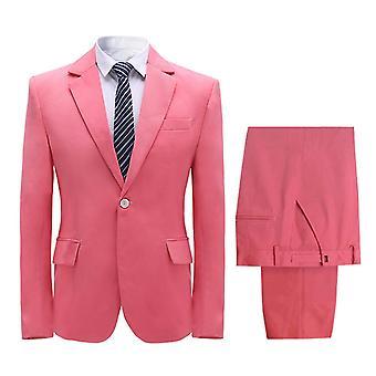 Allthemen Men-apos;s Costume 2-Piece Solid Banquet Party Business Casual Blazer et Pantalon