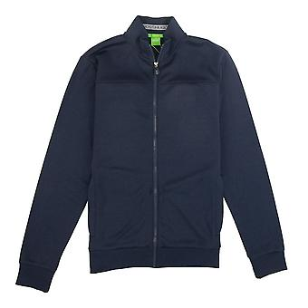 Hugo Boss Zip Up Skaz Funnel Neck Cardigan Navy