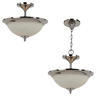 Sea Gull Lighting 79771BLE-841 2-L Convertible Pendant Ceiling Polished Nickle